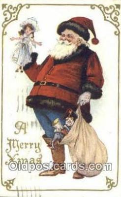 hol003536 - Santa Claus Postcard, Chirstmas Post Card Old Vintage Antique Carte, Postal Postal
