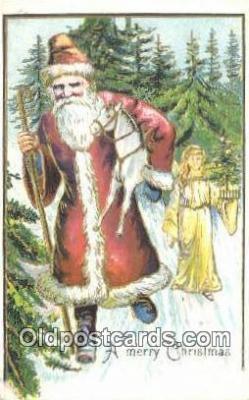 hol003546 - Santa Claus Postcard, Chirstmas Post Card Old Vintage Antique Carte, Postal Postal