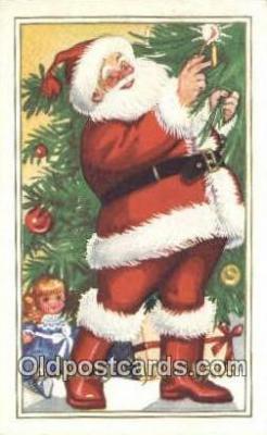 hol003547 - Santa Claus Postcard, Chirstmas Post Card Old Vintage Antique Carte, Postal Postal