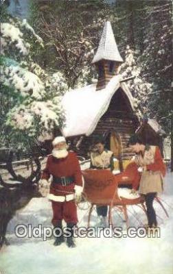hol003578 - Skyforest, California, USA Santa Claus Postcard, Chirstmas Post Card Old Vintage Antique Carte, Postal Postal
