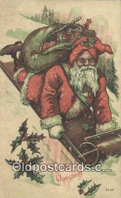 hol003589 - Santa Claus Postcard, Chirstmas Post Card Old Vintage Antique Carte, Postal Postal