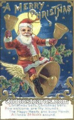 hol003605 - Santa Claus Postcard, Chirstmas Post Card Old Vintage Antique Carte, Postal Postal