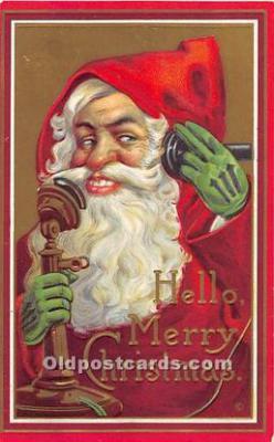 hol003637 - Santa Claus Old Vintage Postcard