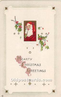 hol003652 - Santa Claus Old Vintage Postcard