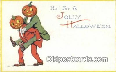 Ho for a Jolly Halloween Postcard Post Card