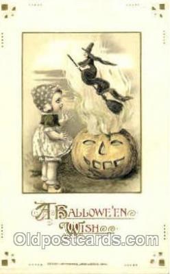 hol010042 - Artist Jason Freixas & Samual Schmucker Halloween Postcard Postcards