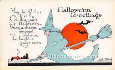 Artist E. Weaver Halloween Post Card