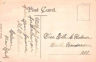 hol012005 - Halloween Post Card Old Vintage Antique  back