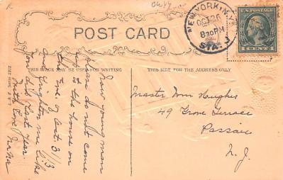 hol012029 - Halloween Post Card Old Vintage Antique  back