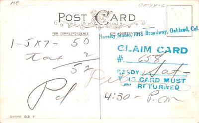 hol012065 - Halloween Post Card Old Vintage Antique  back