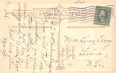 hol012079 - Halloween Post Card Old Vintage Antique  back