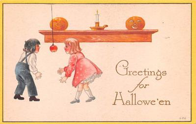 hol012081 - Halloween Post Card Old Vintage Antique