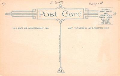 hol012081 - Halloween Post Card Old Vintage Antique  back
