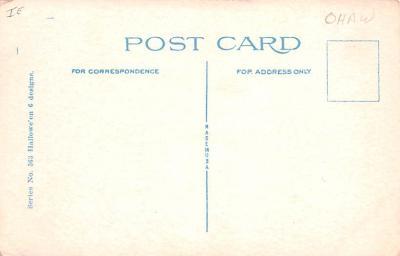 hol012099 - Halloween Post Card Old Vintage Antique  back