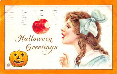 hol012111 - Halloween Post Card Old Vintage Antique