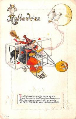 hol012121 - Halloween Post Card Old Vintage Antique