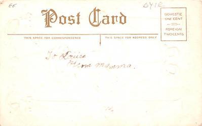 hol012353 - Halloween Post Card Old Vintage Antique  back