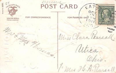hol014245 - Halloween Post Card Old Vintage Antique  back