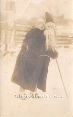 hol016005 - Santa Claus Postcard Old Vintage Christmas Post Card
