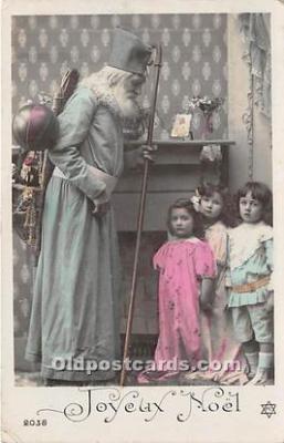 hol016018 - Santa Claus Postcard Old Vintage Christmas Post Card