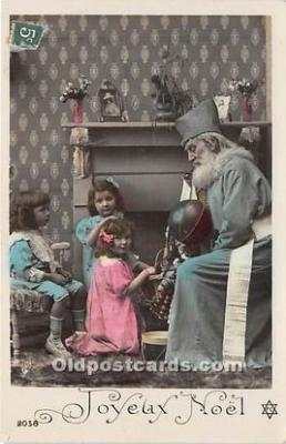 hol016034 - Santa Claus Postcard Old Vintage Christmas Post Card