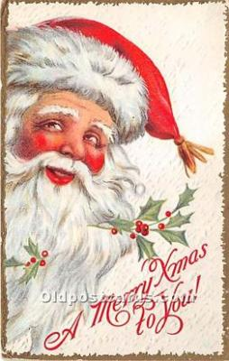 hol016065 - Santa Claus Postcard Old Vintage Christmas Post Card