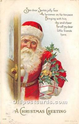 hol016069 - Santa Claus Postcard Old Vintage Christmas Post Card