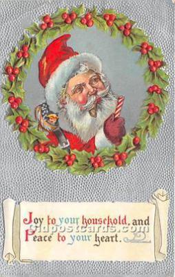 hol017068 - Santa Claus Postcard Old Vintage Christmas Post Card