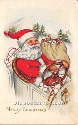 hol017076 - Santa Claus Postcard Old Vintage Christmas Post Card