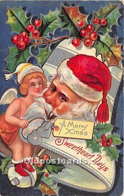 hol017165 - Santa Claus Postcard Old Vintage Christmas Post Card