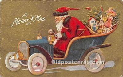 hol017530 - Santa Claus Postcard Old Vintage Christmas Post Card
