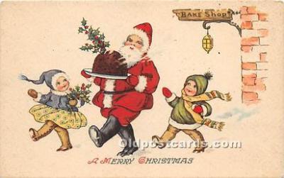 hol017534 - Santa Claus Postcard Old Vintage Christmas Post Card