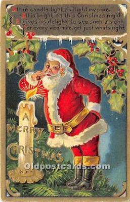 hol017552 - Santa Claus Postcard Old Vintage Christmas Post Card