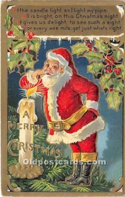 hol017565 - Santa Claus Postcard Old Vintage Christmas Post Card