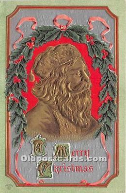 hol017577 - Santa Claus Postcard Old Vintage Christmas Post Card
