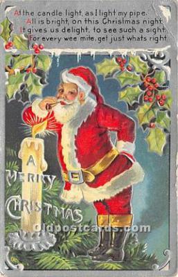 hol017590 - Santa Claus Postcard Old Vintage Christmas Post Card