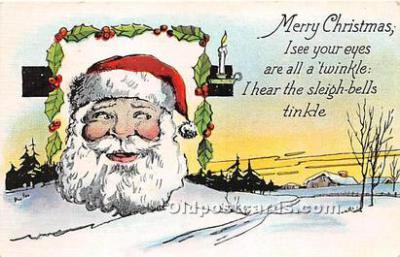 hol017621 - Santa Claus Postcard Old Vintage Christmas Post Card