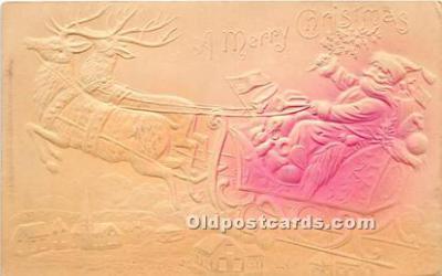 hol017632 - Santa Claus Postcard Old Vintage Christmas Post Card