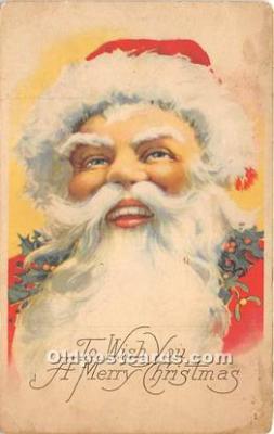 hol017633 - Santa Claus Postcard Old Vintage Christmas Post Card