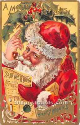 hol017648 - Santa Claus Postcard Old Vintage Christmas Post Card