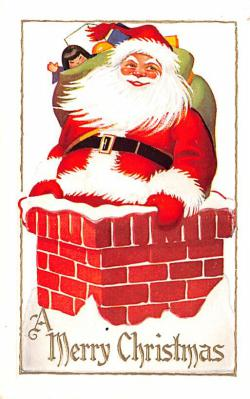 hol018443 - Santa Claus Christmas Old Vintage Antique Postcard