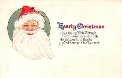 hol018603 - Santa Claus Christmas Old Vintage Antique Postcard