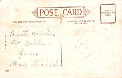 hol018603 - Santa Claus Christmas Old Vintage Antique Postcard  back