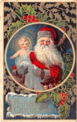 hol018657 - Santa Claus Christmas Old Vintage Antique Postcard