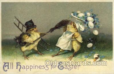 hol030099 - Artist Ellen Clapsaddle, Happy Easter Postcard Post Cards