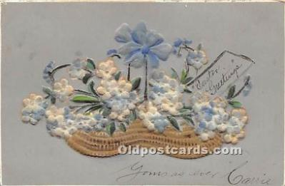 Embroidery Material on front of card