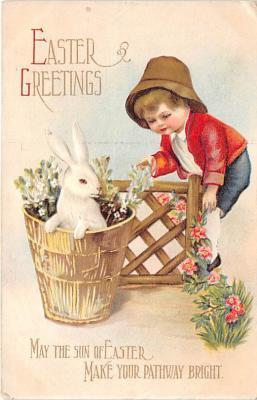hol032040 - Artist Ellen Clapsaddle Easter Post Card