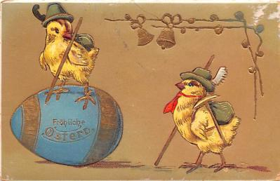 hol033051 - Easter Postcard, Old Vintage Antique Post Card