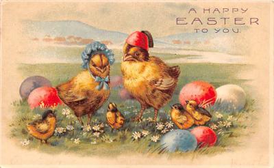 hol033075 - Easter Postcard, Old Vintage Antique Post Card