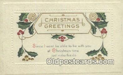 hol050351 - Christmas Postcard, Post Card Old Vintage Antique Carte, Postal Postal